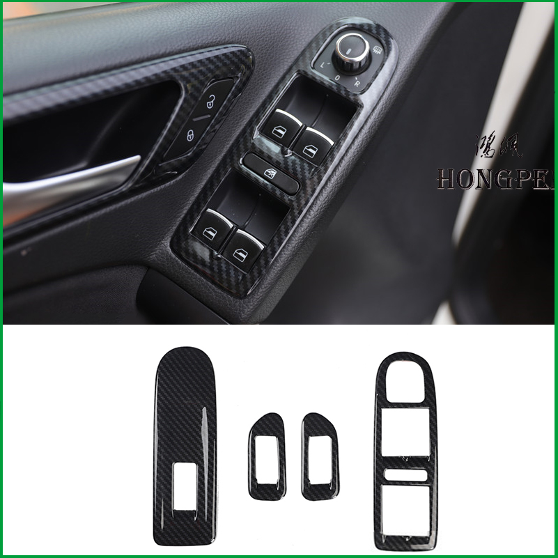 For Volkswagen VW Golf 6 MK6 2008-2011 Interior Handle Window Lift Switch Panel Cover Sticker Trim Accessories car-styling image