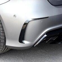 1 пара автомобиля Черный Abs задний бампер сплиттер Спойлеры Canard для Mercedes Benz W176 A200 A250 A45 Для Amg 2013