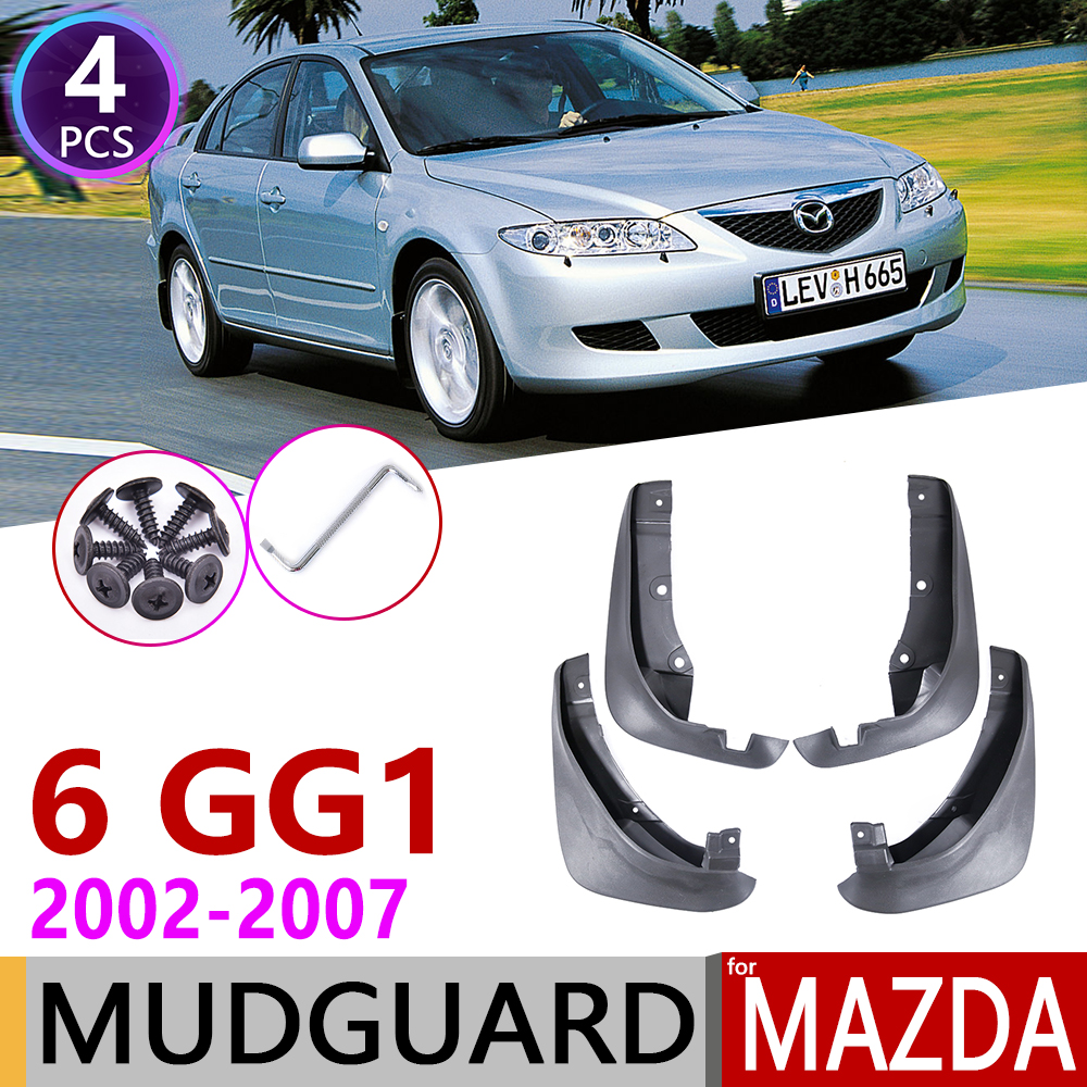 Car Mudflap for Mazda 6 GG1 Saloon Sedan 2002 2007 Fender Mud Guard Flap Splash Flaps Mudguards Accessories 2003 2004 2005 2006