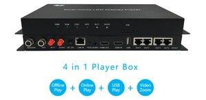Image 2 - Huidu A6 HD A6 Usb + Wifi Full Color Asynchrone Led Scherm Speler 2048X1024 Pixels Async Seinding Kaart Wifi video Led Controle