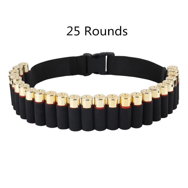 25/29/50 Rounds Hunting Bullet Ammo Tactical Military Airsoft  Shell Bandolier Belt 12/20 Gauge  Cartridge Belt