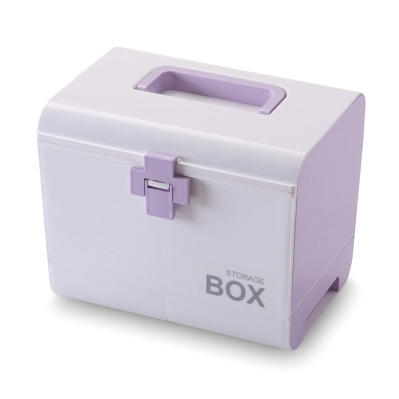 Medicine Box First Aid Kit Storage Box Plastic Container Emergency Kit Portable Multi-Layer Large Capacity Storage Organizer