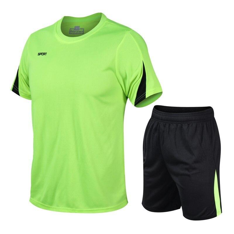 Football Sports Suit 2020 Sportswear Breathable Short Sleeve Training Men Five Points Pants Leisure Pack