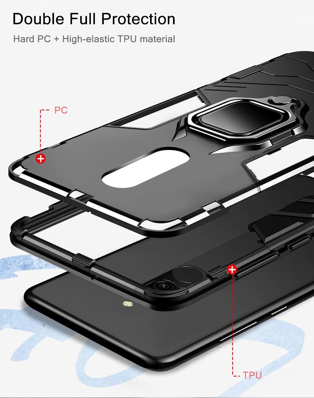 Hafdd2385fdc14d66905ac46652957f39V Armor Case for Redmi 8 8A Case Magnetic Car Phone Holder TPU+PC Bumper Cover on for Xiaomi Redmi 8 8A 8 A Global Version Case