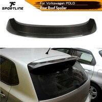 Carbon Fiber / FRP Unpainted Grey Rear Roof Spoiler Rear Windshield Wings Window Lip for Volkswagen VW Polo 2010 - 2015