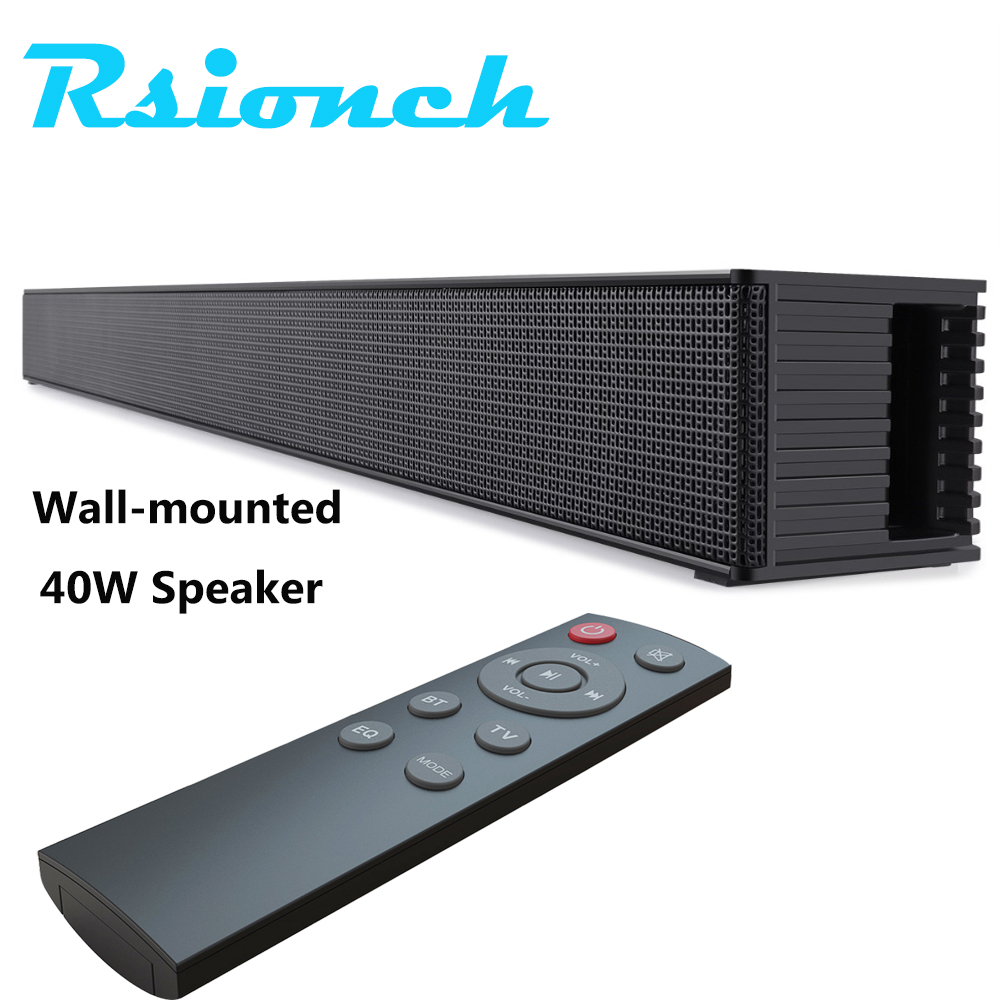 Soundbar TV Speaker Powerful HDMI-compatible OPT Bluetooth Subwoofer Speakers Wall Mount Home Theater Sound System with Remote