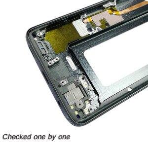 Image 4 - 1Pcs Für Samsung Galaxy S9 + S9 Plus G960f G965F Gehäuse LCD Display Mittleren Rahmen Midframe Lünette Chassis Platte