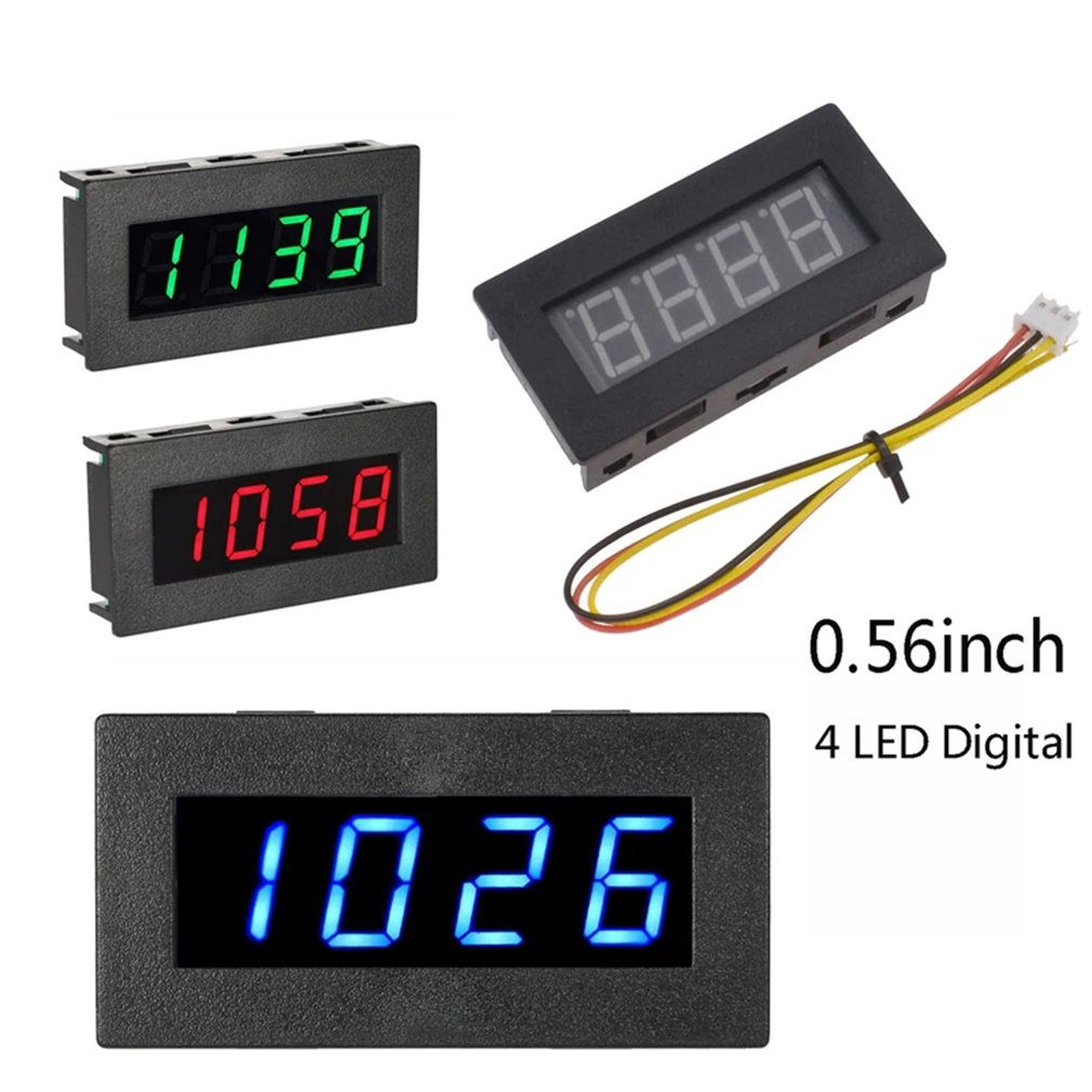 Digital Frequency 4-digit Display Tachometer Automobile Engine Speed Measure RPM High Precision Tester 5-9999R