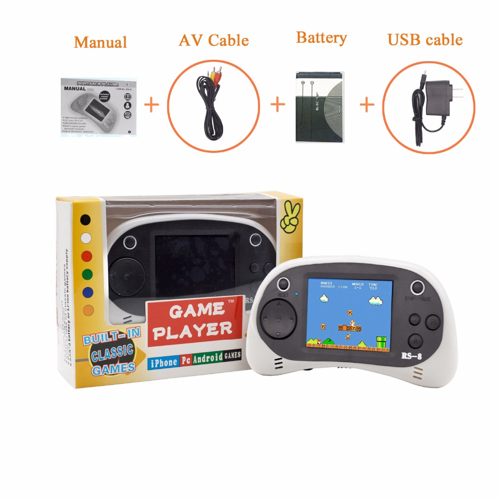 """USB Charging Retro Game Console, Portable 260 Built-in Handheld Game, 2.5"""" LCD Screen, Good Gift for Children's Birthday"""
