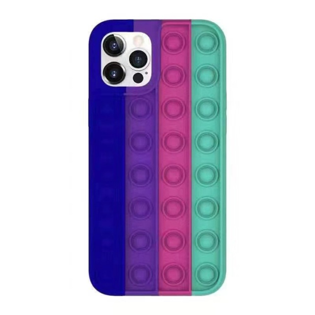 Pop Fidget Bubble Silicone Phone Case For iPhone - For iphone 7 Plus, 1699-F-1