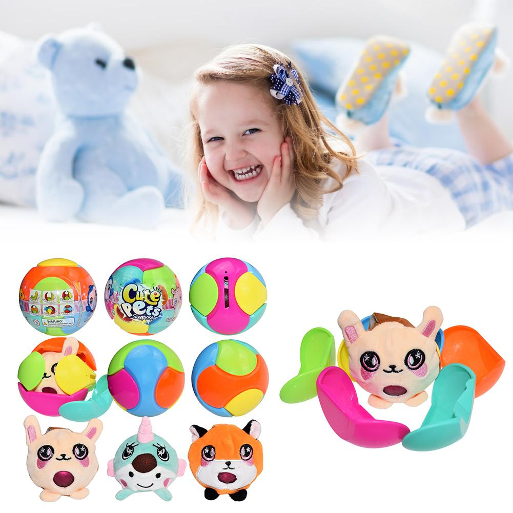Cute Pet Spit Bubble Ball Plush Decompression Toy Ball Cartoon Balls Slow Rebound Stress Reliever For Kids
