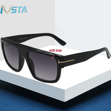 IVSTA lunettes de soleil surdimensionnées pour hommes et femmes, grande taille, verres Steampunk avec Logo Original TF0699, marque de luxe de styliste