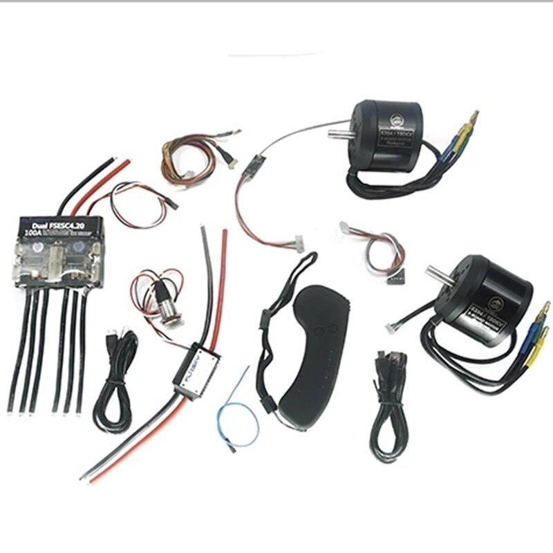 Kit de patineta eléctrica grupo D2 (incluye motores dual FSESC4.2 y BLDC 6354) controlador monopatín remoto Flipsky