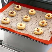 Антипригарный силиконовый коврик для выпечки макарон раскатки