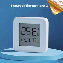 شاومي Mijia بلوتوث ميزان الحرارة 2 Mijia بلوتوث اللاسلكية الذكية الكهربائية الرقمية الرطوبة ميزان الحرارة العمل مع Mijia APP
