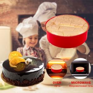 Image 3 - ランダムな色のケーキラウンド形状の金型キッチン耐熱皿diyデザートベーキングモールドムースケーキ金型ベーキングパンツール