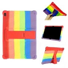 Regenbogen Silikon Fall Für Lenovo Tab M10 TB-X505F/L TB-X605F/L 10.1