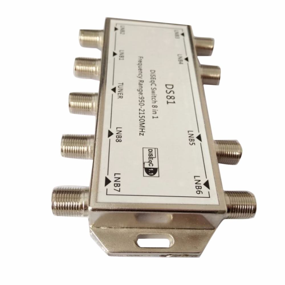 DS81 8 In 1 Satellite Signal DiSEqC Switch LNB Receiver Multiswitch Drop Shipping