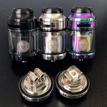 25mm Zeus X RTA 3 5ml 4 5ml baza Zeus x mesh atomizer RTA Deck elektroniczne papierosy typu mod podwójna cewka zbiornik do e-papierosa RTA Vaper atomizer tanie i dobre opinie Metal Wymienne