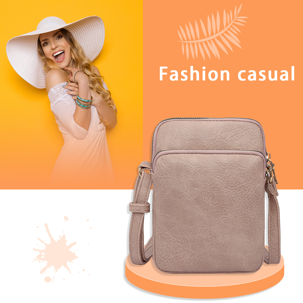 PU Leather Crossbody Bags SimpleMulti-layer Summer Lady Shoulder Handbags Female Simple Totes for Women 2020 Trend
