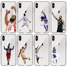 Silicone basketball print Phone Case For iPhone 11 pro X XR XS Max 7 8 6 6s Plus Back Cover hard Anti-fall Protective shell(China)