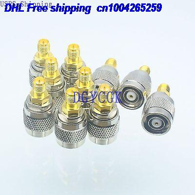 DHL 100pcs Conversion Adapter RPTNC male M connector to RPSMA female F for Antenna connector 22-ct