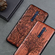 2019 New For OPPO Reno 2 Case Slim Wood Back Cover TPU Bumper Case On OPPO Reno 2 Reno2 Phone Cases