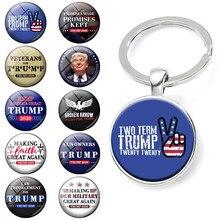 Llavero Keep America gran Donald para el presidente de Estados Unidos declaración llavero de coche Trump llaveros