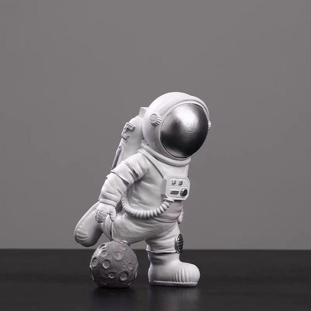 Astronaut Spaceman Creative Statue Car Decor Art Crafts Figurine Abstract Sculpture Home Office Desktop Decoration Ornament Gift 4