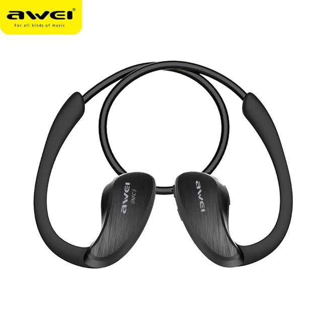 Awei A885BL Sport IPX4 Waterproof APT-X Wireless Bluetooth Headphone Sport Ear-hook HiFi Stereo Bass Lossless Earphone With NFC