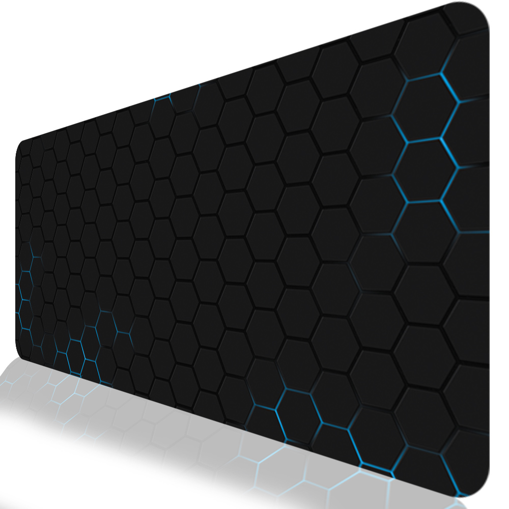 Custom Mouse Pad 6 Size Rubber Anti Skid Pad to Mouse Notebook Computer Gaming Mousepad Keyboard Mat,Blue