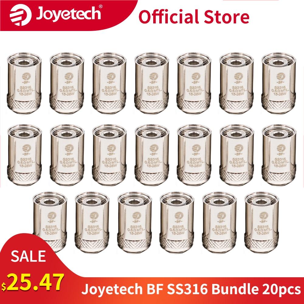 20PCS Original Joyetech BF SS316 0.6ohm Head 0.5/0.6/1.0ohm Coil For CUBIS/eGO AIO/Cuboid Mini Kit MTL Head E-Cigarette