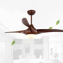 52 cal Nordic brązowy rocznika wentylator sufitowy z oświetleniem zdalnego ściemniania sterowania wentylator wentylator wentylator De Techo wentylator światła LED wentylatory sufitowe sypialni