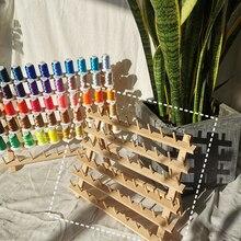 Sanbest Embroidery & Sewing Thread Storage Racks Organizer Foldable Wooden stand Holds Organizer Wall Mount Storage Holder