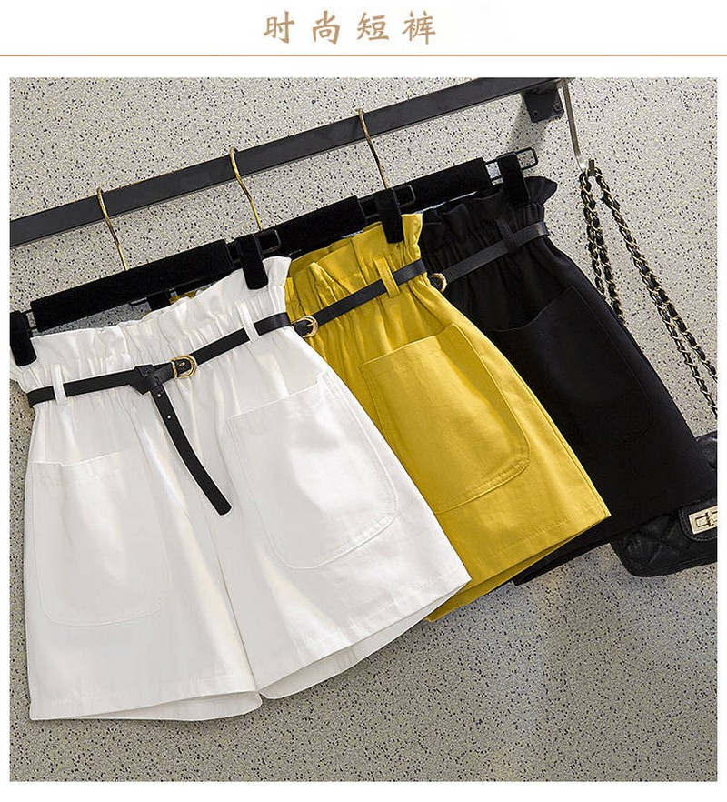 NiceMix 2020 Shorts Women Pantalones Cortos Mujer Women's Casual Elastic Waist Summer Shorts Jersey Walking Shorts