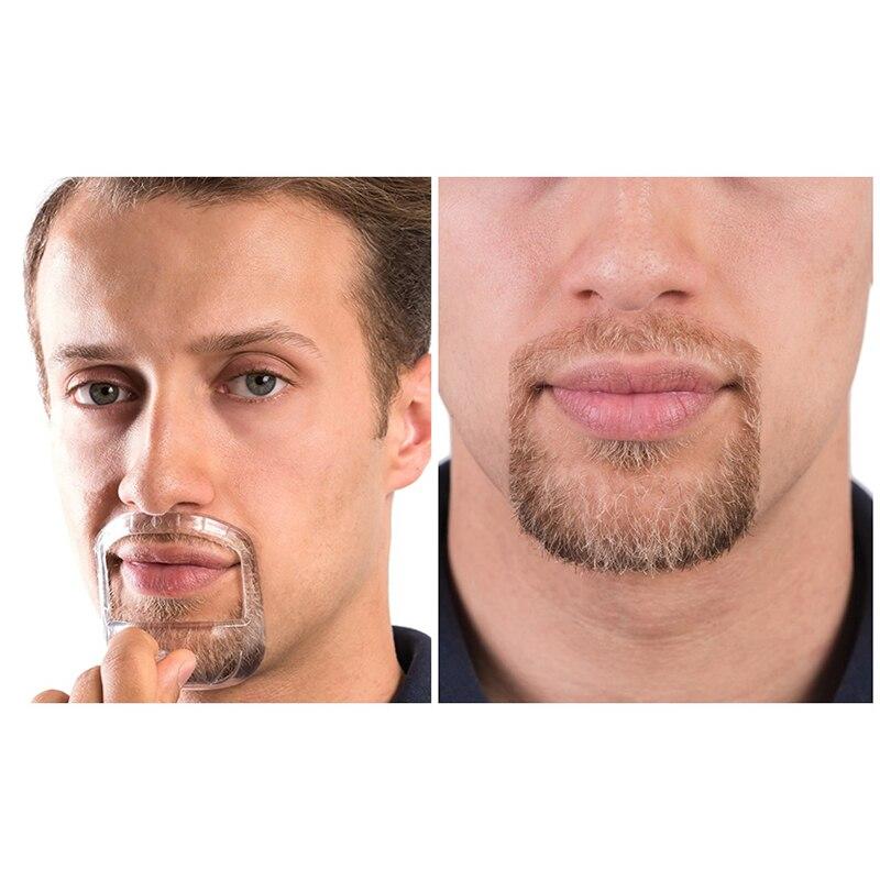 5Pcs/lot Beard Comb Hairbrush Symmetric Cut Salon Mustache Beard Styling Template For Beard Shaping Trimming Tool