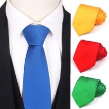 Solid Tie for Men Polyester Suits Neckties Classic Mens Neck Ties 8cm Width Girls Boys Skinny Necktie For Wedding Party