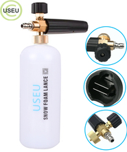 USEU Snow Foam Lance Car Washing Cannon Pressure Washer Jet Wash With 1/4 Quick Release Adjustable Sprayer