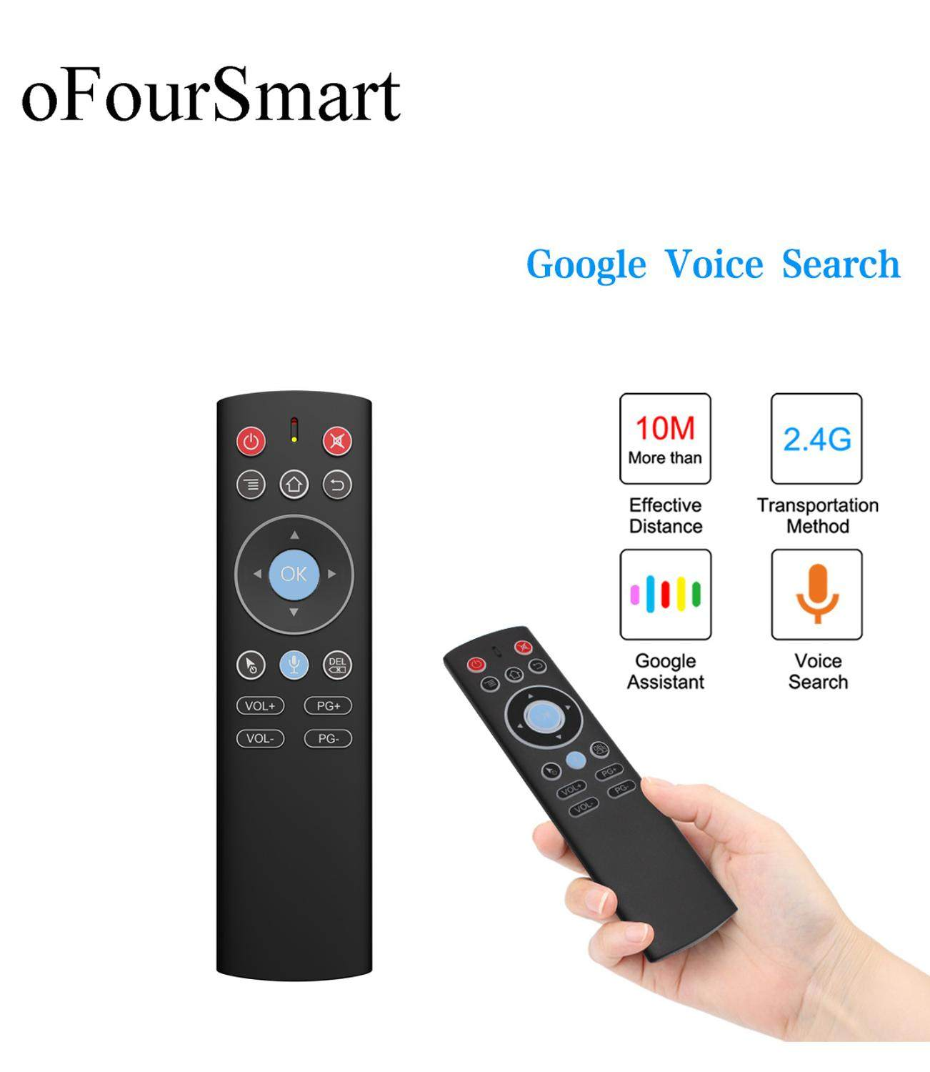 Mini 2.4G Wireless Voice Air Mouse Gyro Remote Control IR Learning For Android  TV Box One key access Function Remote Controls