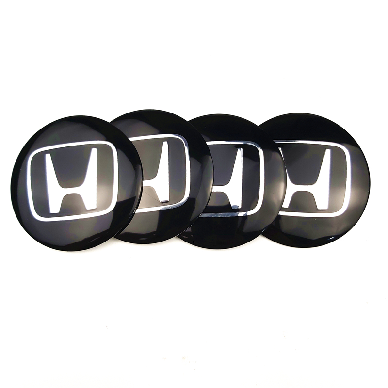 4Pcs Car Styling Steering Wheel Center Tire Dust Cover Sticker For Honda Accord FIT CITY CRV Motorcycle Car Styling Accessories