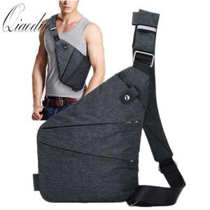 Brand Men Travel Business Fino Bag Burglarproof Shoulder Bag Holster Anti Theft Security Strap Digital Storage Chest Bags CE3122(China)