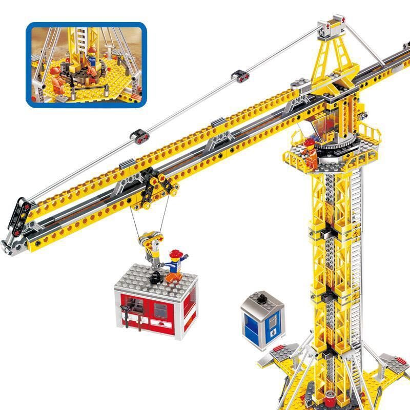 Image 4 - 02069 Creator Series Engineering Project Construction Crane Model Building Blocks 778pcs Bricks Toy Gift For The Children 7905-in Blocks from Toys & Hobbies