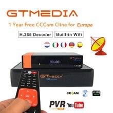 Satellite Receiver Full HD GTMedia V8 Nova DVB-S2 Support built-in WIFI H.265 1080P for 1 Year Europe Cccam 7 line decoder hd цена