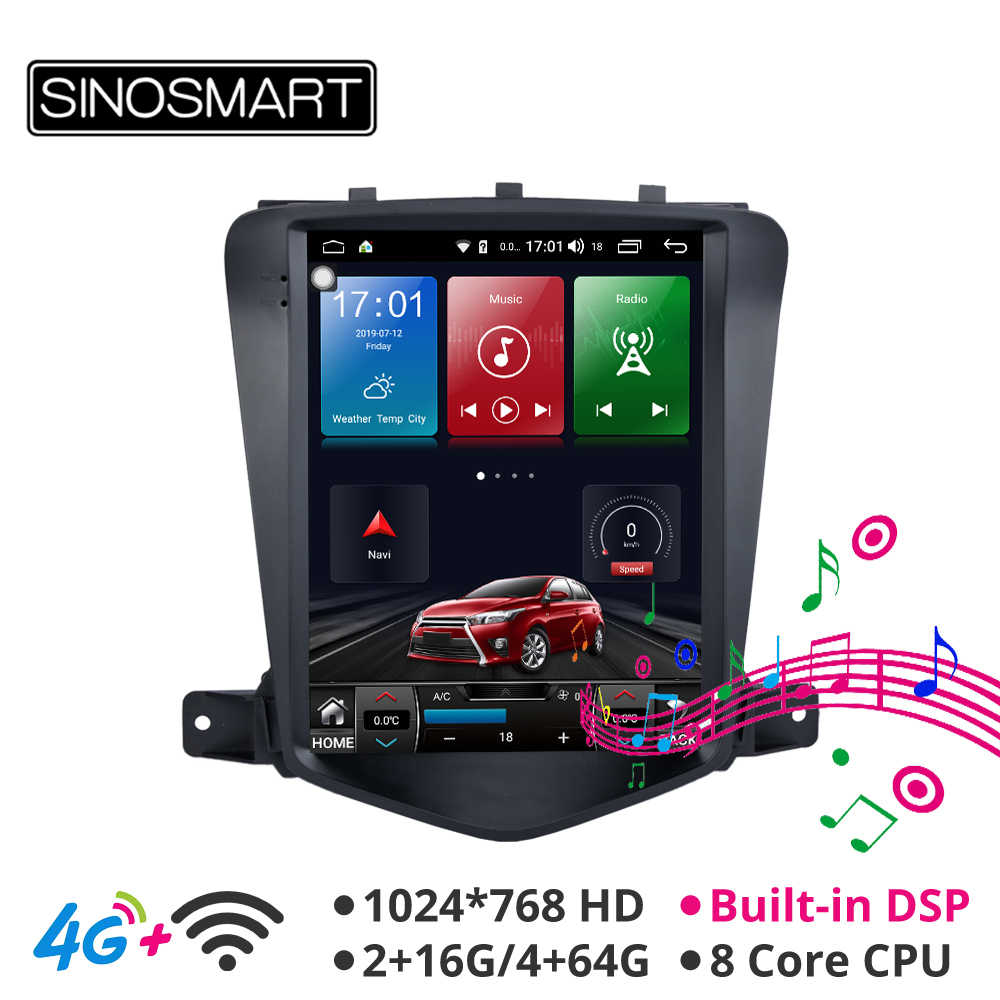 Sinosmart Android 8,1 Tesla стиль HD экран 9,7 ''автомобильный gps-плеер Радио Навигация для Chevrolet Cruze/Daewoo Lacetti 2009-2014