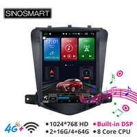 Sinosmart Android 8.1 styl tesla ekran hd 9.7 ''odtwarzacz samochodowy gps radiowy system nawigacyjny dla chevroleta Cruze/Daewoo Lacetti 2009-2014