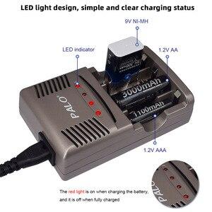 Image 2 - פאלו AA AAA סוללה מהיר מטען LED תצוגה חכם סוללה מטען עבור 1.2V AA AAA או 9V NiCd niMh נטענת סוללה