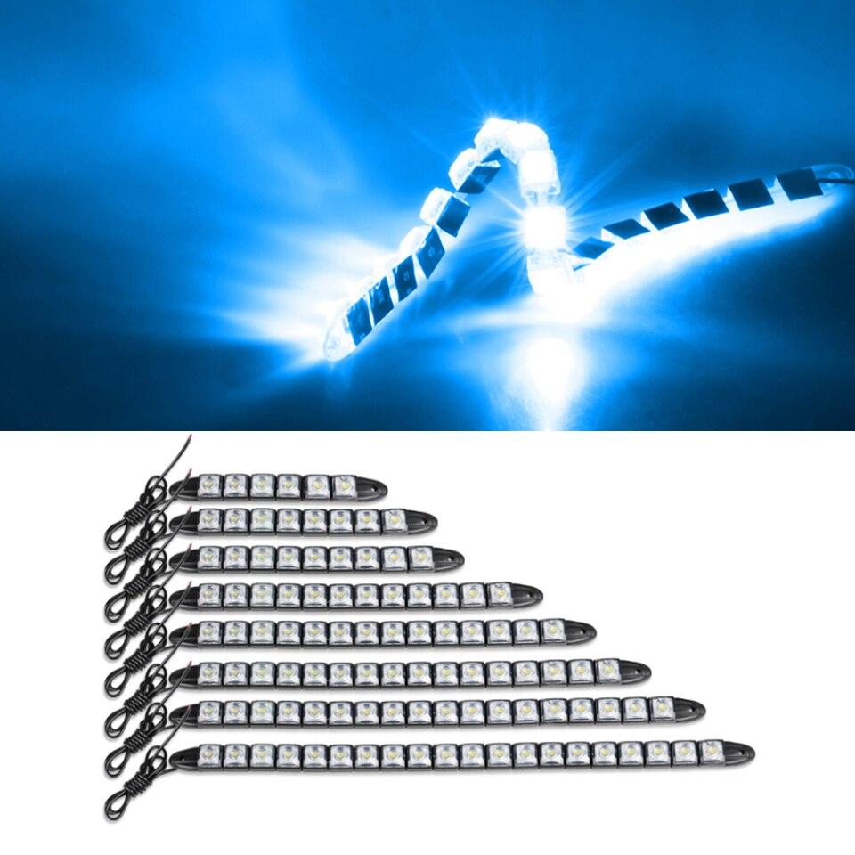 12/24 v 2 pces carro luz de circulação diurna carro-estilo do carro drl luz diurna auto luz de nevoeiro super brilhante à prova dlamps água lâmpadas de condução