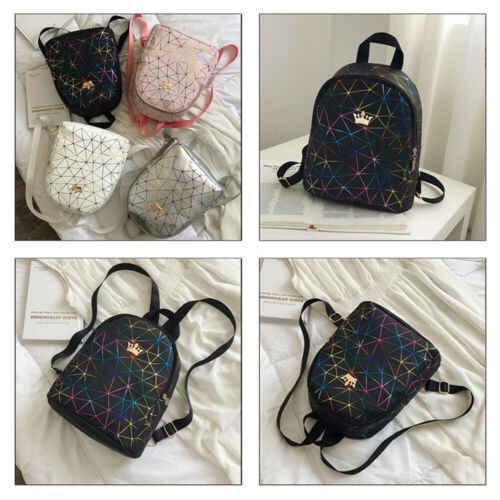 Frauen Mini Rucksack PU Leder Schulter Schule Rucksack Damen Mädchen Rucksack Taschen Reisetasche Frauen Heiße Wilde Geometrische Rucksack