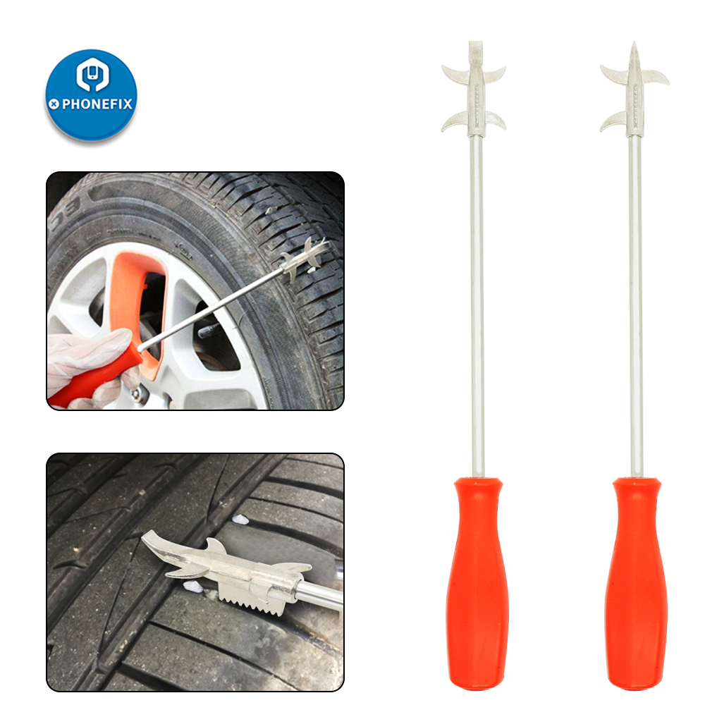 2Pcs Trim Pry Tool Auto Fastener Tire Stones Remover Cleaning Hook Car Door Panel Audio Trim Removal Tool Tyre Stone Remover