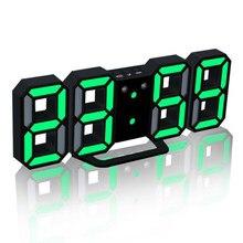 3d led relógio digital brilhante noite modo brilho ajustável eletrônico relógio de mesa 24/12 horas display despertador parede pendurado